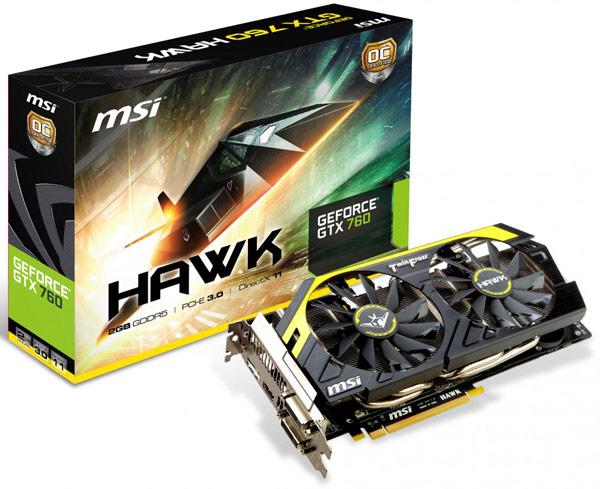 Печатная плата и система охлаждения 3D-карты MSI GTX 760 Hawk отличаются от таковых референсного образца