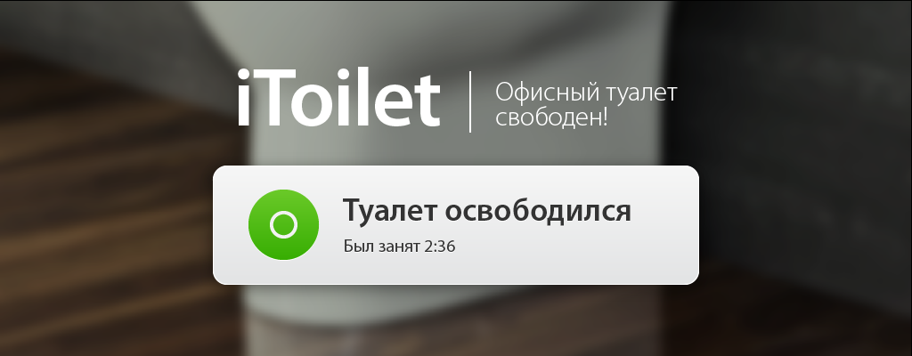iToilet. Офисный туалет свободен