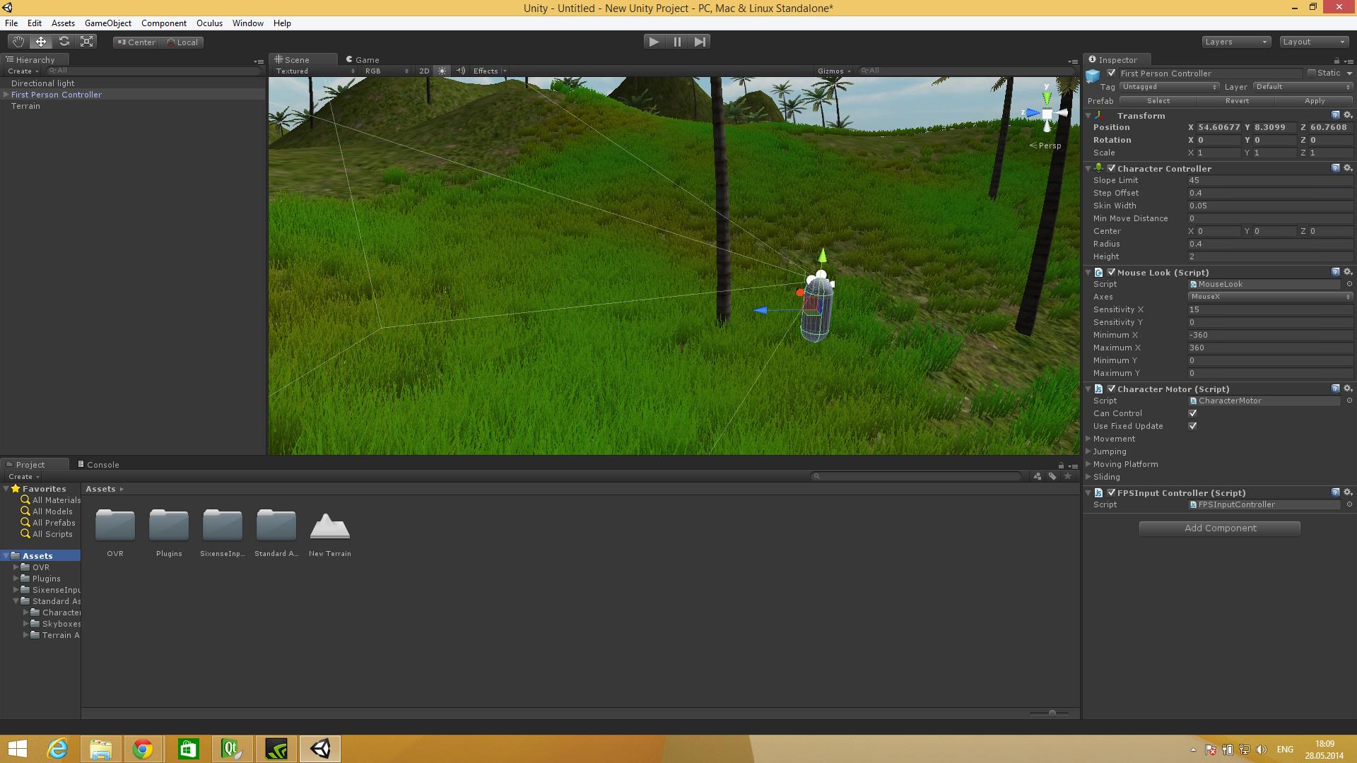 Интеграция средств VR в Unity3d