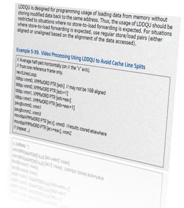 История команд одного процессора. Часть 1. Отличия ассемблерных инструкций lddqu и movdqu