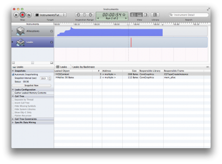 Как пользоваться утилитой Instruments в Xcode