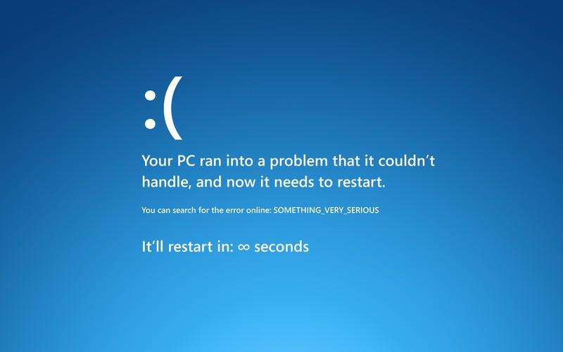 Как уронить Windows шестью строчками кода
