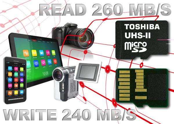 Toshiba выпускает самые быстрые в мире карты памяти microSD — первые, соответствующие спецификации UHS-II
