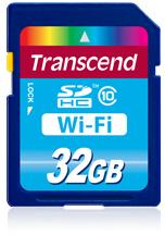 Доступны карточки Transcend Wi-Fi SD объемом 16 и 32 ГБ