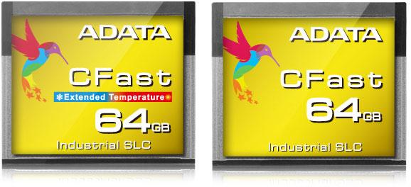 Карты памяти Adata ISC3E CFast предназначены для промышленной электроники