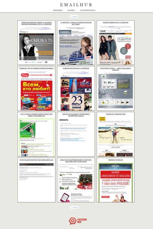 Коллекции лучших писем в email маркетинге