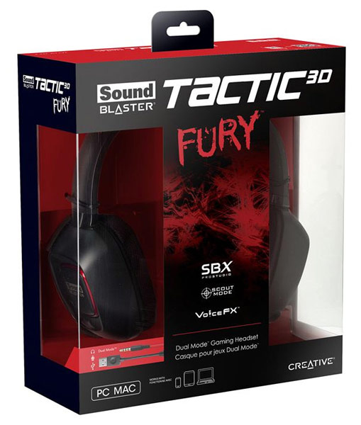 Компания Creative Technology представила игровую гарнитуру Sound Blaster Tactic3D Fury