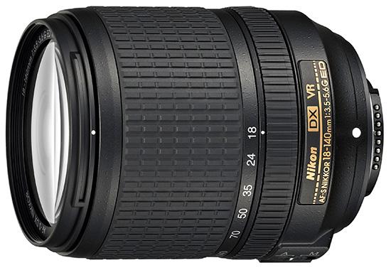 Цена объектива AF-S DX Nikkor 18–140mm f/3.5–5.6G ED VR — $600
