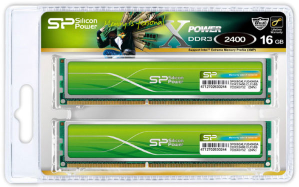 Модули памяти Silicon Power Xpower DDR3 Overclocking DDR3-1600, DDR3-1866, DDR3-2133 и DDR3-2400 снабжены радиаторами