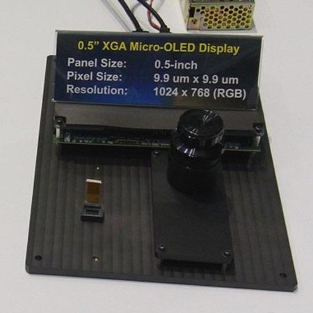 Компания Sony показала панели типа OLED для электронных видоискателей и носимых дисплеев