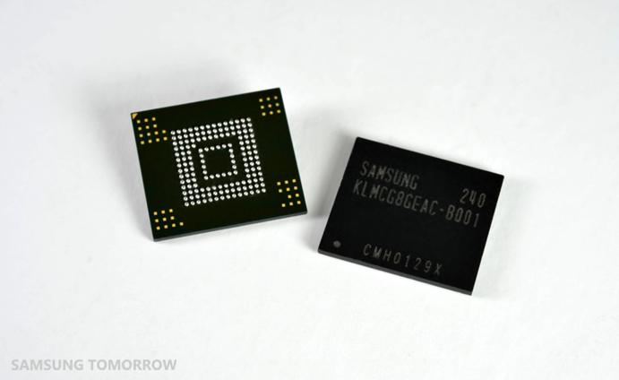Коротко о новом: Samsung начинает серийный выпуск новых модулей памяти EMMC Pro Class 2000