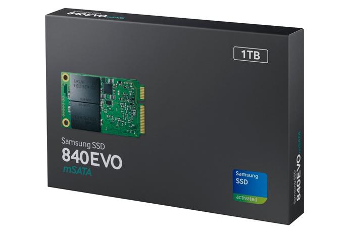 Коротко о новом: Samsung выпустила 840 EVO — первый в мире SSD накопитель mSATA ёмкостью 1 ТБ