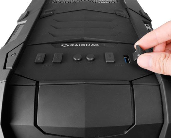 Корпус Raidmax Vampire вмещает системные платы типоразмера XL-ATX и до 10 карт расширения
