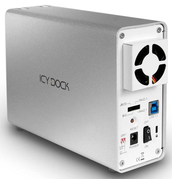 Корпус для внешнего массива дисков Icy Dock ICYRaid MB662U3-2S оснащен интерфейсом USB 3.0