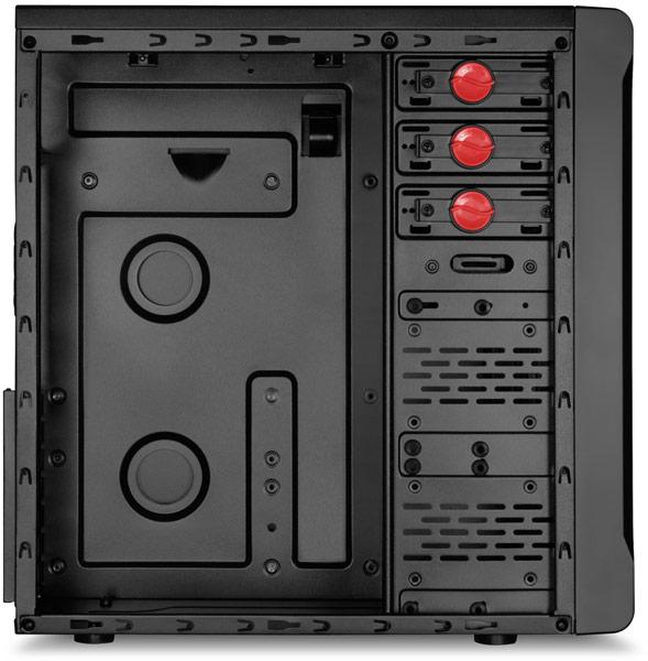 Корпуса Sharkoon VS3 рассчитаны на системные платы типоразмера ATX
