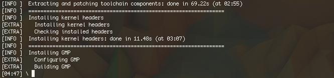 Кросс компиляция в OS X под Linux, с использованием инструментария crosstool ng
