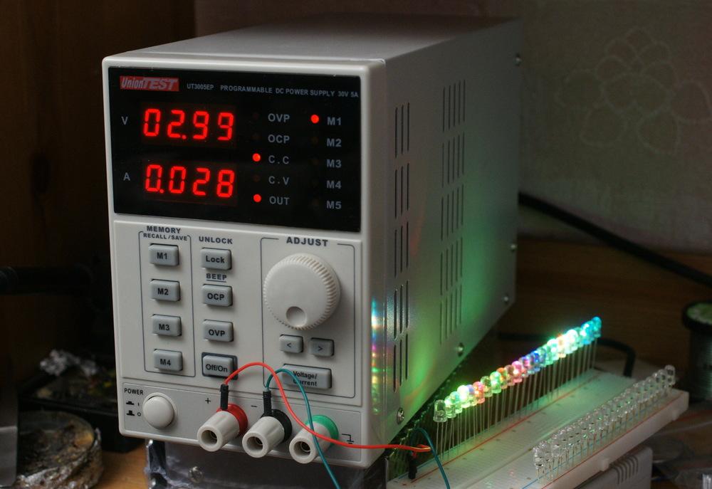 Лабораторный программируемый линейный блок питания UnionTest/KORAD UT3005EP и его калибровка/управление