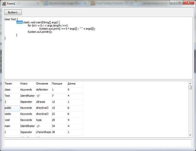Лексический анализатор языка Java, созданный в среде Delphi