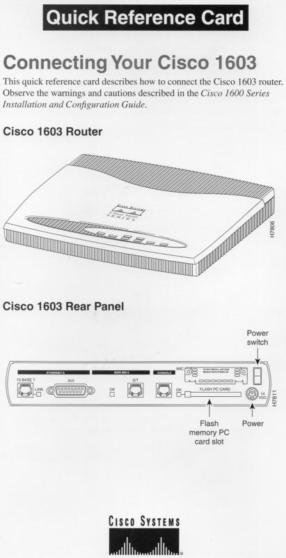 Маршрутизатор Cisco 1603