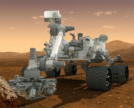 Марсоход Curiosity зачекинился на Foursquare с Марса