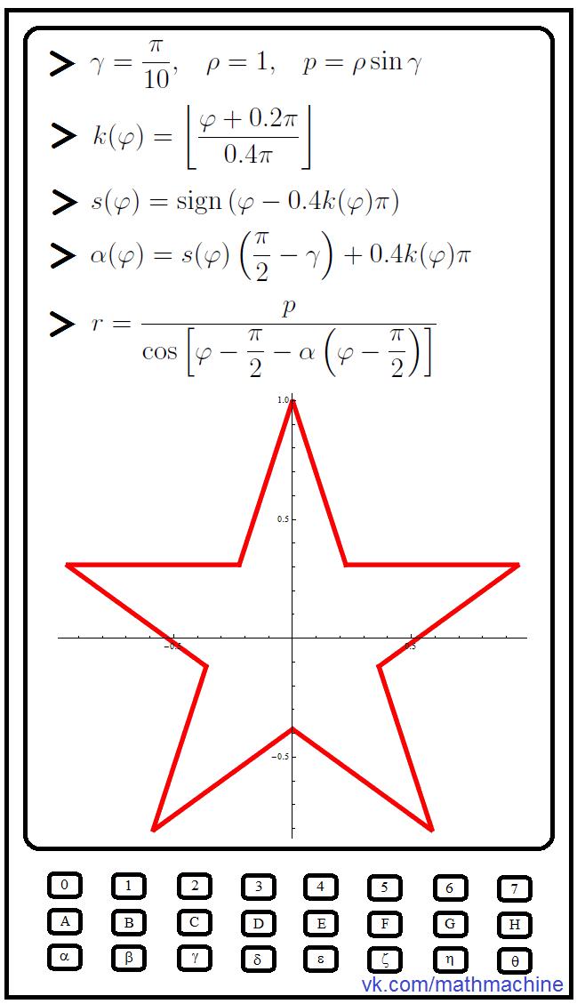 Математическая звезда ко Дню защитника Отечества