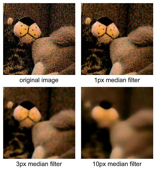 Пример использования медианного фильтра