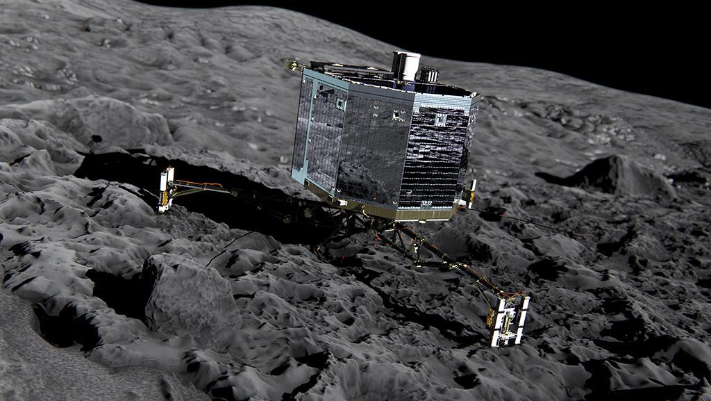 Межпланетная станция Rosetta выполнила третий ключевой маневр и сфотографировала комету Чурюмова Герасименко