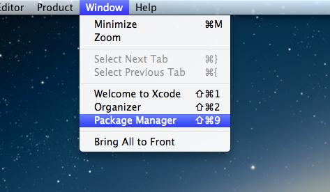 Менджер пакетов для XCode