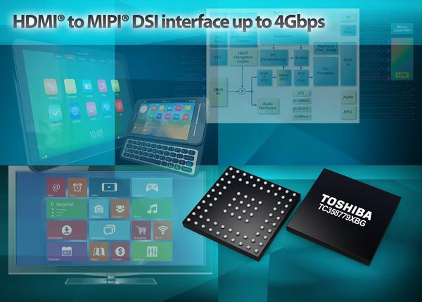Микросхема Toshiba T358779XBG — первый в отрасли конвертер HDMI в MIPI DSI