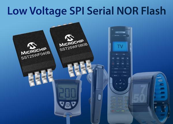 Микросхемы SST25WF020A, SST25WF040B и SST25WF080B уже доступны для заказа по оптовой цене от $0,49 за штуку