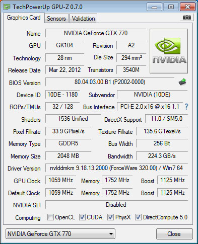 Не исключено, что GeForce GTX 770 будет получена из GTX 680 давно известным Nvidia приемом переименования