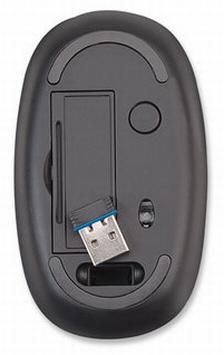 Мышь Manhattan Stealth не имеет кнопок и колес прокрутки