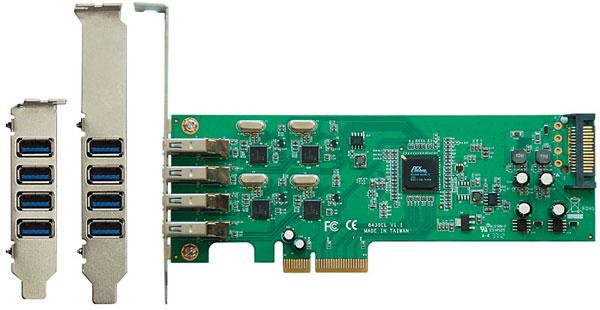 Kuroutoshikou USB3.0RX4-P4-PCIE позволяет всем четырем портам USB 3.0 работать в полную силу