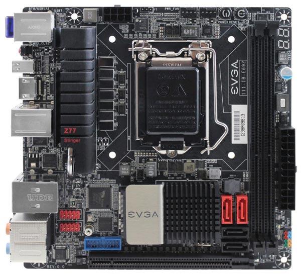 Начались продажи системных плат EVGA Z77 Stinger типоразмера Mini-ITX