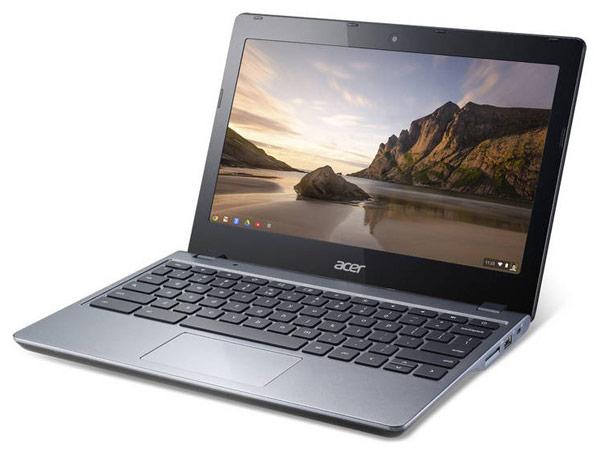 Мобильный компьютер Acer C720 Chromebook на процессоре Intel Haswell работает автономно до 8,5 ч