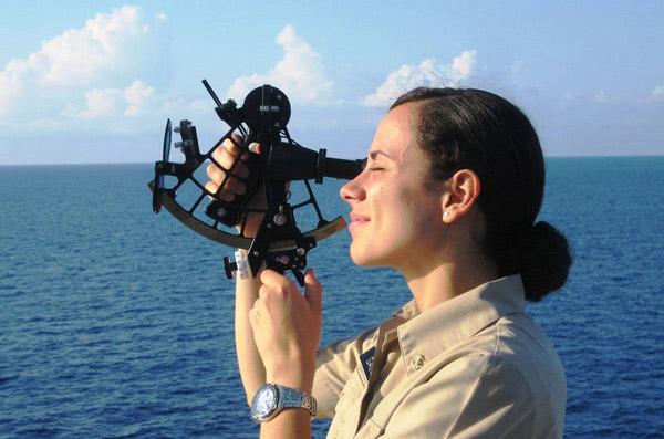 (до изобретения радионавигации) мореплаватели измеряли высоту Солнца и Л