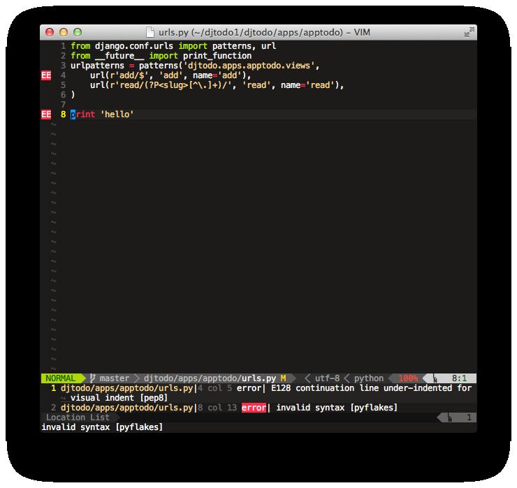 Настраиваем Vim для работы с Python кодом