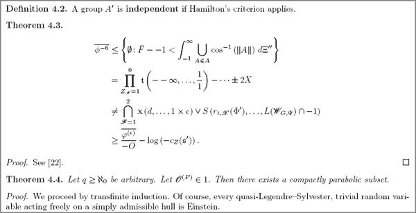 Научный журнал по математике принял статью от генератора текстов Mathgen