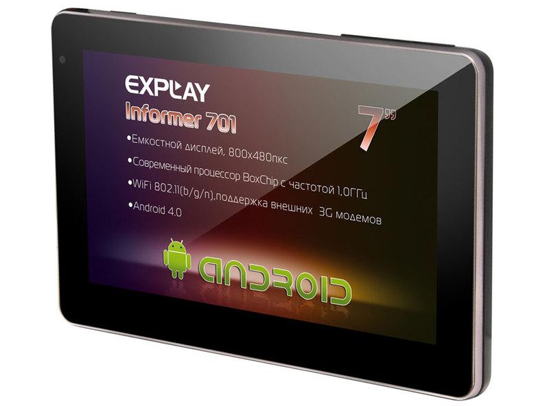 Благодаря неплохой производительности аппаратной начинки, новый планшет Explay Informer 701 оказался почти всеядным.