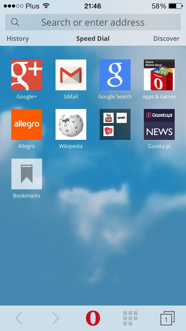 Новая Opera Mini 8 для iOS
