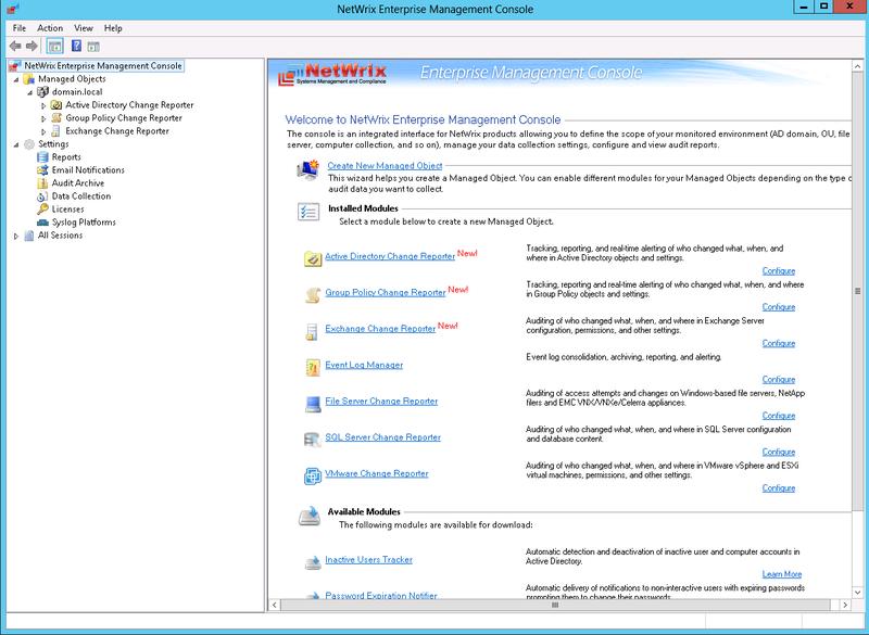 Новая версия NetWrix Change Reporter Suite обеспечивает надежный контроль над ИТ инфраструктурой
