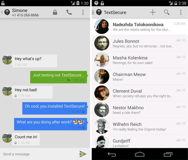 Новая версия TextSecure: зашифрованные чаты под Android