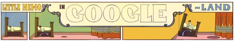Новый дудл от Гугла. К 107 летию комикса «Маленький Немо в стране снов»