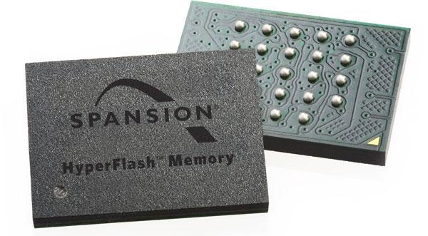 Память Spansion HyperFlash в пять раз быстрее Quad SPI