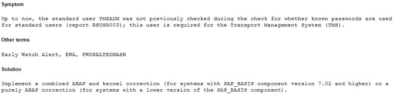 Новый пароль по умолчанию в SAP