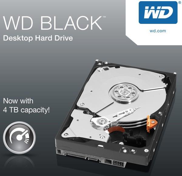 Рекомендованная производителем цена жесткого диска WD Black объемом 4 ТБ (WD4001FAEX) — $339