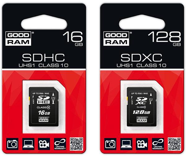 Карты памяти Goodram SDXC UHS-I обеспечивают скорость чтения 90 МБ/с