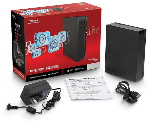 Накопитель Toshiba Canvio Desk Desktop External Hard Drive объемом 4 ТБ стоит $250, объемом 5 ТБ — $300