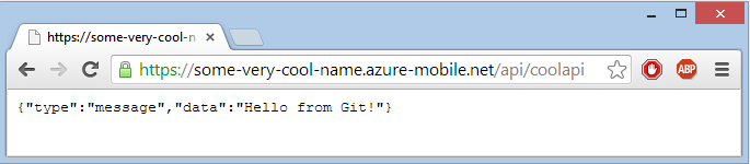 Результат GET операции API