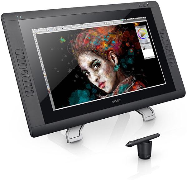 Интерактивный дисплей Waсom Cintiq 22HD touch распознает жесты